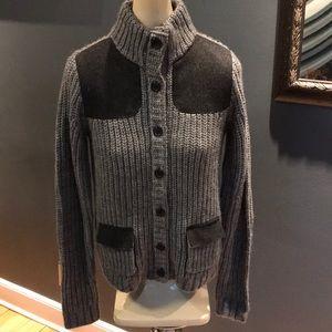 J. Crew gray alpaca/merino wool blend sweater NWT